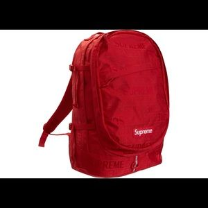 SUPREME SS19 Red Backpack NWT